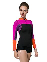 SBART Femme 2mm Costumes humides Haut de Combinaison Veste de Combinaison Garder au chaud Compression Tactel Tenue de plongéeMaillots de