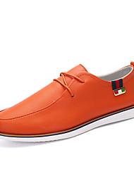 Черный / Белый / Оранжевый Мужская обувь На каждый день Полиуретан Туфли на шнуровке
