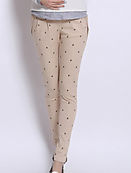 Maternity Simple Skinny Pants,Cotton Micro-elastic