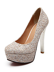 Women's Shoes Glitter / Customized Materials Seasons Heels / Basic Pump / Round Toe HeelsWedding / Party