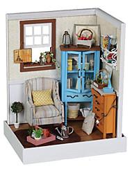 Brinquedos de Faz de Conta Casa de Boneca Quadrada Casa Inovador Madeira