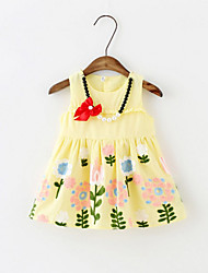 Infant cotton dress a baby girl on behalf of 0-1-2-3-4 bow and Pearl Necklace print dress