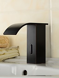 Contemporary Oil-rubbed Bronze Finish  Bathroom Sink Faucet  with Automatic Sensor Hand Free Faucet