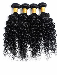 Natural Color Hair Weaves Brazilian Texture Curly 4 Pieces hair weaves