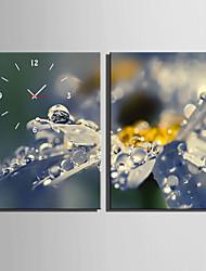 Rechteckig Modern/Zeitgenössisch Wanduhr,Anderen Leinwand35X50cm(14inchx20inch)x2pcs/ 40 x 60cm(16inchx24inch)x2pcs/ 50 x