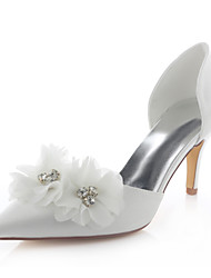Women's Shoes Stretch Satin Spring / Fall Heels / Pointed Toe Heels Wedding /  Dress Stiletto HeelCrystal /