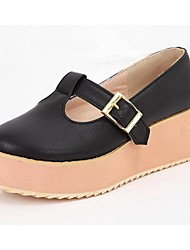 Women's Shoes Microfibre Spring / Summer / Dress / Casual Wedge Heel Bowknot / FlowerBlack / Yellow /
