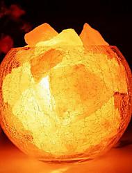 Гималайская соль хрустальные европейская декоративная маленькая лампа творческой спальня теплые звёздная ночь