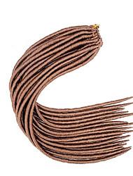 #27 Гавана / Вязаные дредлоки Наращивание волос 14 18 inch Kanekalon 24 нитка 115-125 грамм косы волос