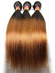 3 Stück Gerade Menschliches Haar Webarten Brasilianisches Haar Menschliches Haar Webarten Gerade