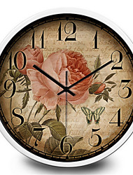 Simple Decoration Stickers Antique Clock Home Furnishing Quartz Wall Clock