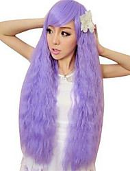 Curly Harajuku Wig Pelucas Pelo Natural Synthetic Wigs Heat Resistant Perruque Anime Cosplay Wigs Light Purple