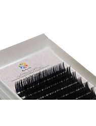 A Box Has 12 Rows of Eyelashes Silk Protein  Individual Lashes Eyes / Eyelash Thick Extended /  Handmade 12mm