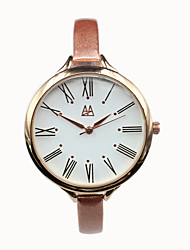 Leder dünnen Riemen der Frauen Quarz beiläufige analog hochwertigen Uhren