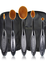 5 Makeup Brushes Set Synthetic Hair Professional / Travel / Synthetic Plastic Face / Eye / Lip MAKE-UP FOR YOU