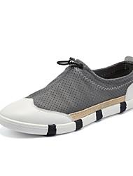Men's Shoes Microfibre / Office & Career / Casual Flats Outdoor / Office & Career / Casual Walking Flat Heel Slip-on