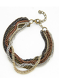 Chain Bracelets 1pc,Golden Bracelet Fashionable Circle  Alloy Jewellery