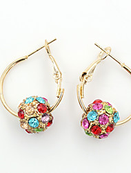 Rhinestone Gold Plated Alloy Fashion Circle Gold Jewelry Wedding Party Daily Casual Sports 1 pair