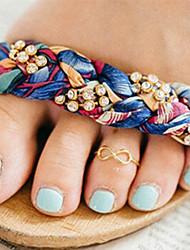Zapato de anilla Legierung Sexy Dorado Joyas,1 pieza