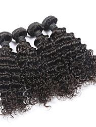 4 Bundles Lot Brazilian Curly Virgin Hair 100% Unprocessed Brazilian Human Deep Wave Virgin Hair Weft