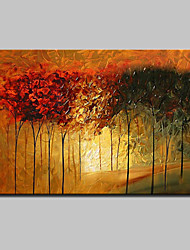 Big Size Hand Painted Modern Abstract Tree Oil Painting On Canvas Wall Art With Stretched Frame Ready To Hang