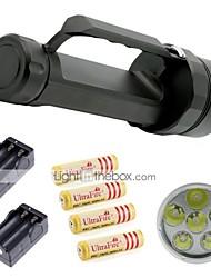 Eclairage Lampes Torches LED LED 9800 Lumens Lumens 2 Mode Cree XM-L2 18650Faisceau Ajustable / Etanche / Rechargeable / Résistant aux
