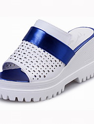 Women's Shoes PU Flat Heel Platform / Creepers / Slippers Patchwork Slippers Dress / Casual