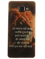 For Samsung Galaxy Case IMD / Pattern Case Back Cover Case Animal Soft TPU Samsung A7(2016) / A5(2016) / A3(2016) / A5 / A3