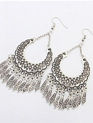 Ethnic Fashion Metal Texture Crescent Earrings