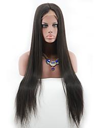lange gerade peruanisches volle Spitze-Menschenhaarperücken für schwarze Frauen 100 nicht verarbeitete glueless volle Spitze Perücke für