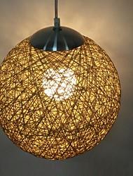 12W Lantern Mini Style Others Wood/Bamboo Pendant Light Living Room / Dining Room