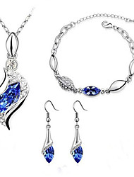 Women's Fashion Angel Elves Necklace Earrings Bracelet Set