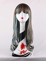New Design Beautiful Anime Cosplay Full Synthetic Wigs Long Wave Wigs For Eurpen and American Women's Daily Wearing