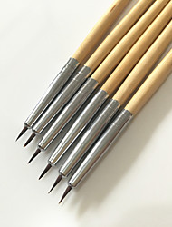 6PCS Colored Drawing Nail Pen Set Nail Art Tool