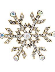 мода горный хрусталь золота гальваническим снега броши формы для рождественской вечеринки