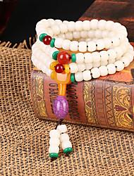 Fashionable White 72cm Round Strand Bracelets