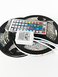 Zdm 10m (2 * 5m) 72w 300x5050 rgb leds strip flexible light et 44key (1bin2) ir kit de contrôle à distance dc12v