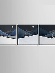 E-HOME® Stretched Canvas Art Smoke On The Mountain Decoration Painting  Set of 3