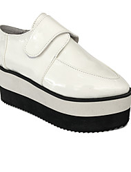 Punk Lolita 8 Wedge Lolita White Shoes Pointed Leather Shoes