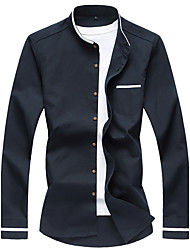 Men's Fashion Casual Long Sleeved Shirt Plus Sizes