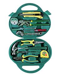 berrylion® 12 conjuntos de ferramenta do agregado familiar conjunto de ferramentas alicates comuns garra martelo caneta elétrica