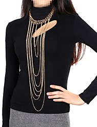 Body Jewelry/Belly Chain Body Chain Gold Plated Tassels Gold 1pc