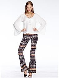 Heart Soul® Women's High Rise Flare Blue Casual Pants-11AA34337