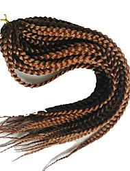 Box Tranças Tranças torção Extensões de cabelo 18 inch Kanikalon 20 costa 100g grama Tranças de cabelo