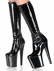 Women's Shoes Patent Leather / Fashion Boots Heels / Boots Wedding / Party & Evening Stiletto Heel/Knee-high boots