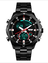 SKMEI Pánské Sportovní hodinky LED Voděodolné Hodinky na běžné nošení Křemenný Mechanické manuální natahování Japonské Quartz Nerez Kapela