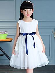 Girl's Cotton Summer Fashion Sleeveless Lace Princess Dress
