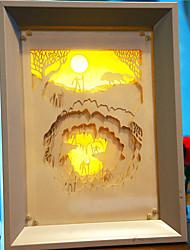 nous branchons papier créatif conduit sculpture 3d décoratif hominidé lumière de nuit de noël