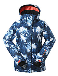 Gsou snow fashion popular light flower blue patterned ski jackets /women breathable windproof waterproof ski-wear