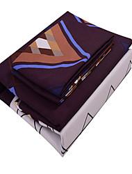 3D (padrão de aleatório) Define capa de edredão 3 Peças Poliéster Estampa Impressão Reactiva Poliéster Casal / Full-size / Queen / King